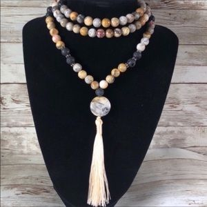 Yogi Surprise Crazy Lace Agate Mala Necklace
